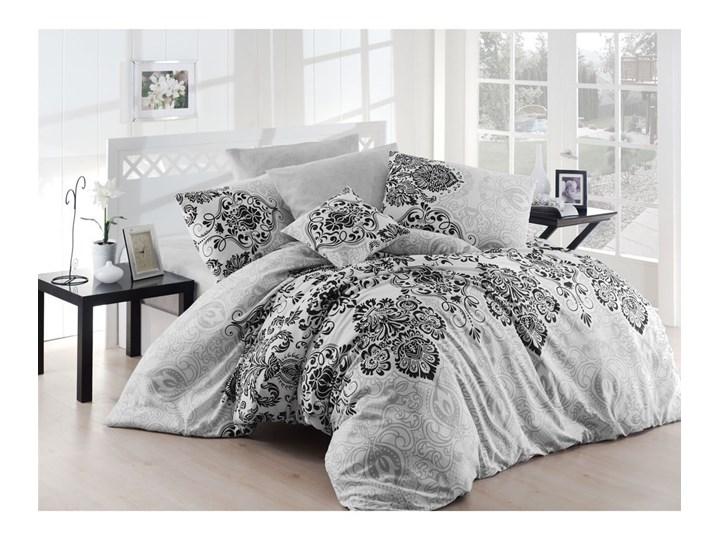 Szara pościel dwuosobowa z prześcieradłem Nazenin Home Luxury Grey, 200x220 cm