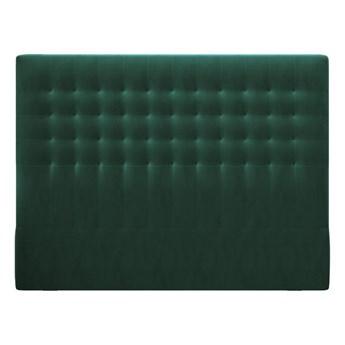 Butelkowozielony zagłówek z aksamitnym obiciem Windsor & Co Sofas Apollo, 200x120 cm