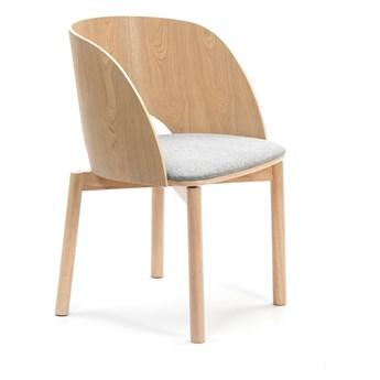 Krzesło z szarym siedziskiem Teulat Dam