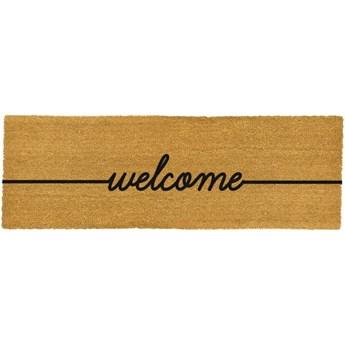 Podłużna wycieraczka Artsy Doormats Welcome, 120x40 cm