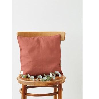 Koralowa lniana poszewka na poduszkę Linen Tales, 45x45 cm