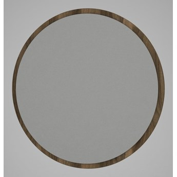 Okrągłe lustro ścienne w brązowej ramie Glob, ⌀ 59 cm