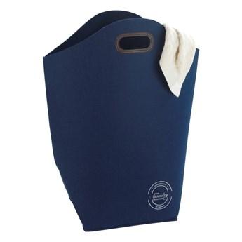 Ciemnoniebieski kosz na pranie Wenko Felt, 42 l