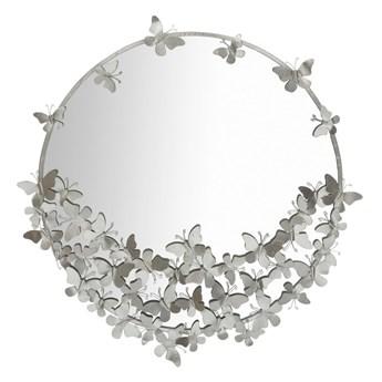 Lustro ścienne w kolorze srebra Mauro Ferretti Round Silver, ø 91 cm