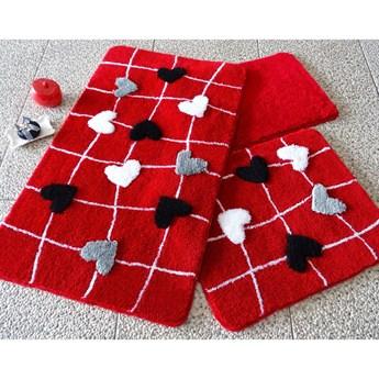 Komplet 3 dywaników łazienkowych Rogue Hearts