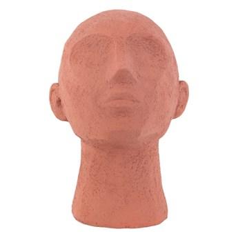 Figurka dekoracyjna w kolorze terakoty PT LIVING Face Art, wys. 22,8 cm
