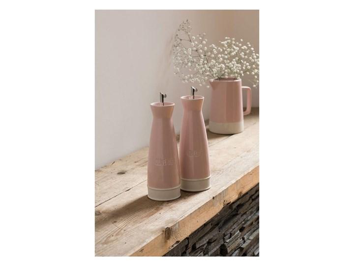Zestaw 2 różowych butelek kamionkowych na olej i ocet Premier Housewares, 528 ml Pojemnik na ocet i oliwę Stal nierdzewna Zestaw do przypraw Kategoria Przyprawniki