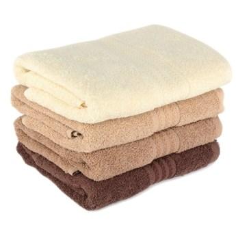 Zestaw 4 brązowych bawełnianych ręczników Rainbow Home, 50x90 cm