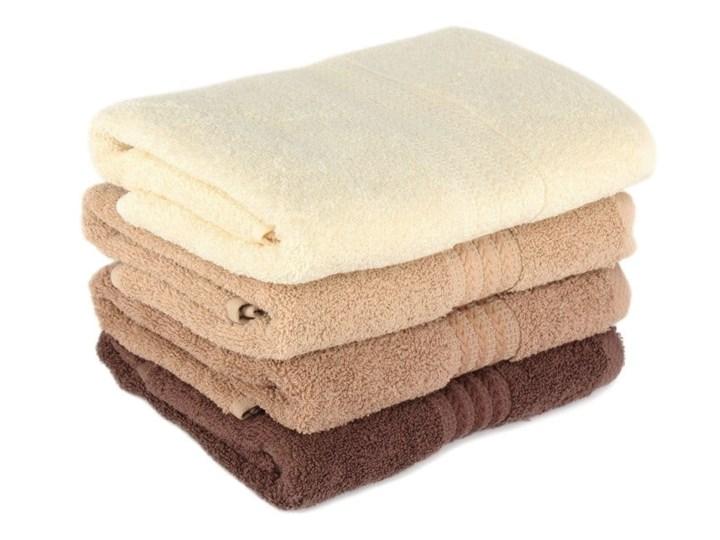 Zestaw 4 brązowych bawełnianych ręczników Rainbow Home, 50x90 cm Ręcznik kąpielowy Komplet ręczników Bawełna Kategoria Ręczniki Łazienkowe Frotte Kolor Beżowy