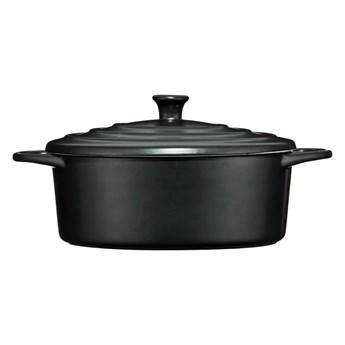 Czarne kamionkowy garnek Premier Housewares, 2,5 l