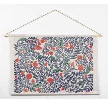 Bawełniana dekoracja ścienna Surdic Flowers, 60x90 cm