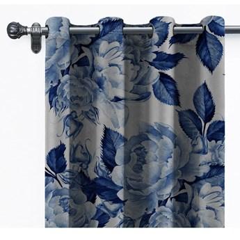 Aksamitna zasłona Velvet Atelier Flowers, 140x260 cm