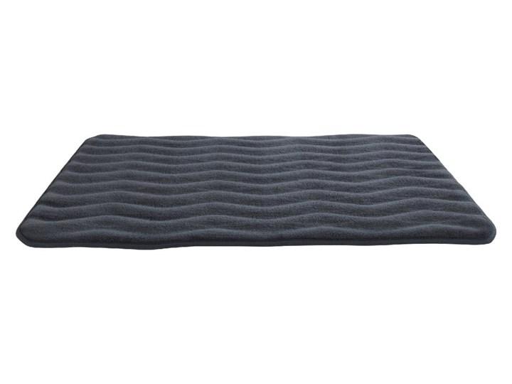 Antracytowy dywanik łazienkowy z pianką z pamięcią kształtu Wenko Anthracite, 80x50 cm 50x80 cm Prostokątny Kolor Szary