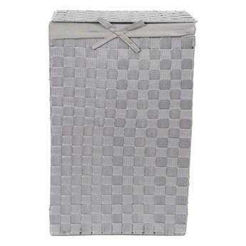 Szary kosz na pranie z pokrywką Compactor Laundry Basket Linen, wys. 60 cm