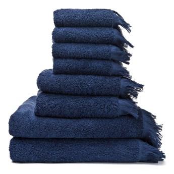 Zestaw 8 granatowych ręczników ze 100% bawełny Bonami
