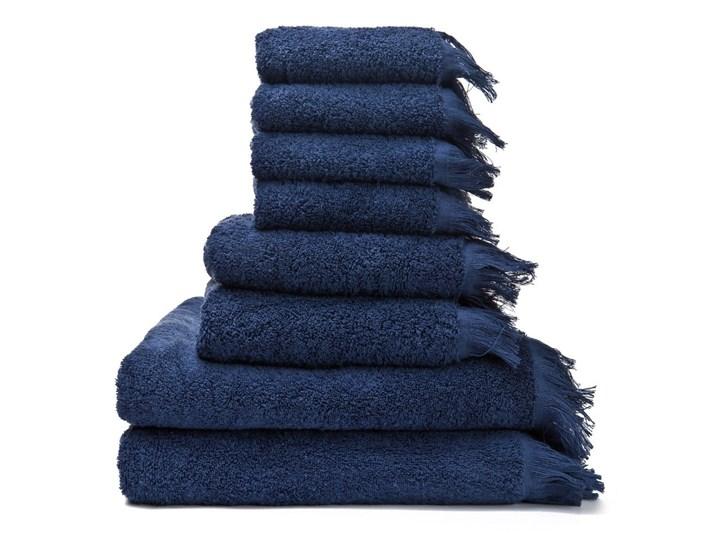 Zestaw 8 granatowych ręczników ze 100% bawełny Bonami 70x140 cm Łazienkowe Frotte Ręcznik kąpielowy Komplet ręczników 30x50 cm 50x90 cm Bawełna Kategoria Ręczniki