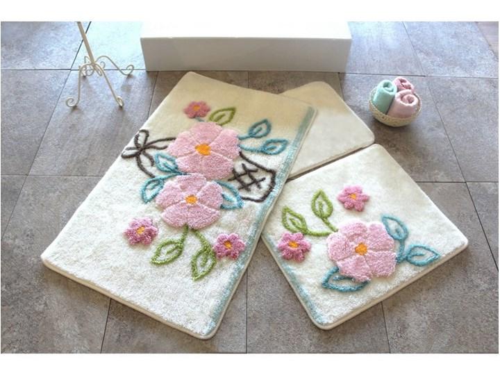 Zestaw 3 dywaników łazienkowych Alessia Bahce Ecru Prostokątny 60x100 cm Kategoria Dywaniki łazienkowe Kolor Wielokolorowy