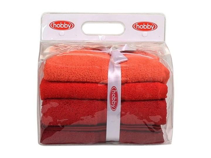 Zestaw 4 czerwonych ręczników bawełnianych Rainbow, 50x90 cm Komplet ręczników Ręcznik kąpielowy Łazienkowe Bawełna Frotte Kategoria Ręczniki