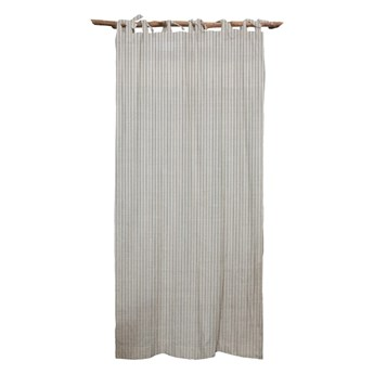 Szara zasłona Linen Cuture Cortina Hogar Grey Marine Stripes