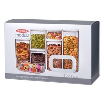 Komplet 7 pojemników na żywność Rosti Mepal Modula Starter