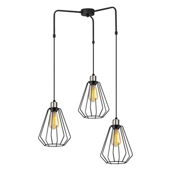 Czarna metalowa lampa wisząca Opviq lights Mathaios