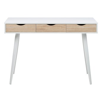 Białe biurko z 3 szufladami z dekorem Actona Neptun