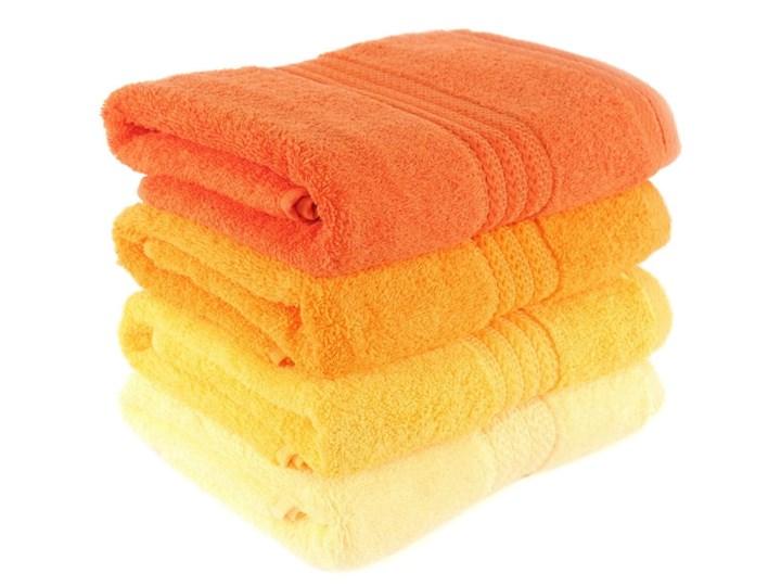 Zestaw 4 ręczników Rainbow Daisy, 70x140cm Komplet ręczników Łazienkowe Bawełna Kolor Pomarańczowy