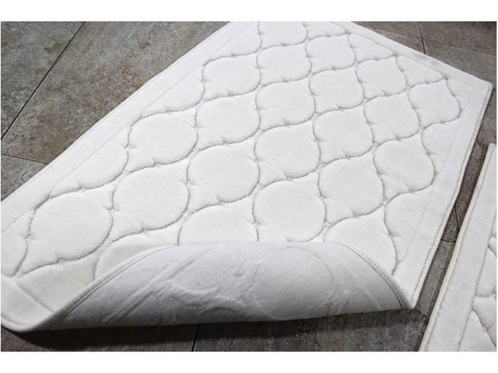Zestaw 2 dywaników łazienkowych ze 100% bawełny Dante Ecru 50x60 cm Kategoria Dywaniki łazienkowe Bawełna 60x100 cm Prostokątny Kolor Beżowy