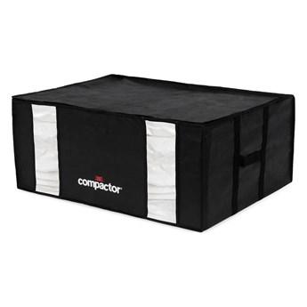 Czarny pojemnik z workiem próżniowym Compactor Black Edition, obj. 210 l