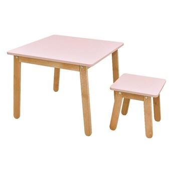 Jasnoróżowy stolik dziecięcy BELLAMY Woody