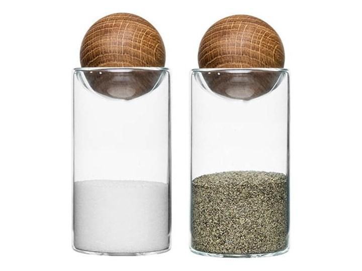 Solniczka i pieprzniczka Sagaform Oval Oak Drewno Szkło Kategoria Przyprawniki Kolor Biały