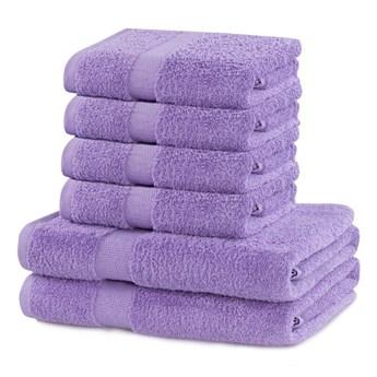 Komplet 6 jasnofioletowych bawełnianych ręczników DecoKing Marina