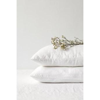 Biała lniana poszewka na poduszkę Linen Tales, 70x90 cm