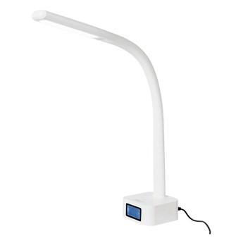 Biała lampa stołowa z LED SULION Nise