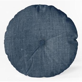 Niebieska poduszka Linen Couture Cojin Redondo Blue, ⌀ 45 cm