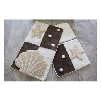 Zestaw 3 dywaników łazienkowych Yildy