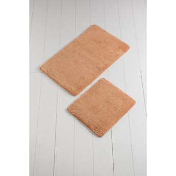 Komplet 2 pomarańczowych dywaników łazienkowych Colors of Square