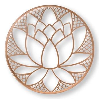 Metalowa dekoracja ścienna w kształcie kwiatu lotosu Graham & Brown Lotus Blossom