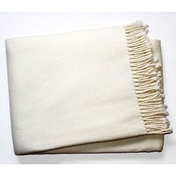 Kremowy pled z domieszką bawełny Euromant Basics, 140x180 cm