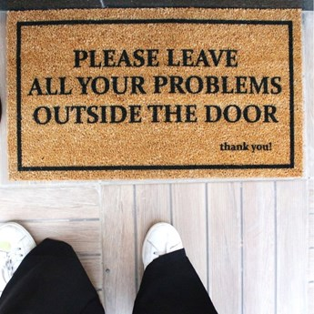 Wycieraczka Doormat Problems, 70x40 cm