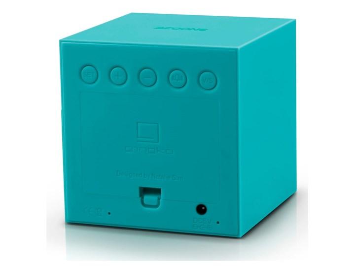 Turkusowy budzik LED Gingko Gravitry Cube Tworzywo sztuczne Pomieszczenie Pokój nastolatka Plastik Zegar stołowy Kwadratowy Kategoria Zegary