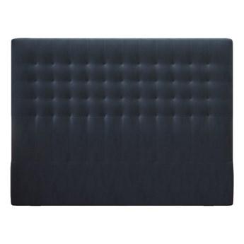 Ciemnoniebieski zagłówek z aksamitnym obiciem Windsor & Co Sofas Apollo, 160x120 cm