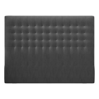 Ciemnoszary zagłówek z aksamitnym obiciem Windsor & Co Sofas Apollo, 140x120 cm