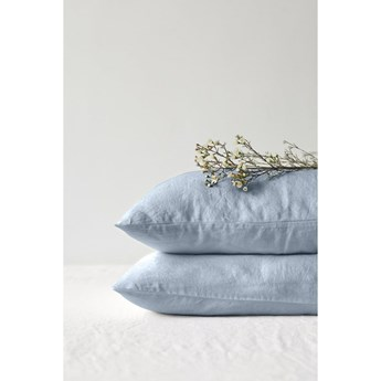 Jasnoniebieska lniana poszewka na poduszkę Linen Tales, 70x90 cm