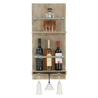 Uchwyt ścienny na butelki i kieliszki Mauro Ferretti Bar, 76x34 cm