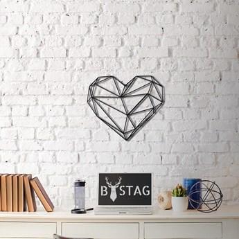 Metalowa dekoracja ścienna Heart, 40x37 cm