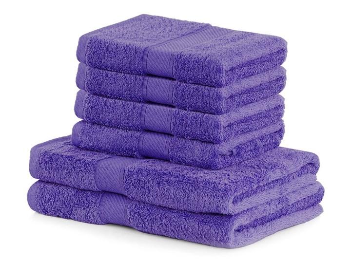 Komplet 6 ciemnofioletowych ręczników DecoKing Bamby Purple Bambus Komplet ręczników 50x100 cm Ręcznik kąpielowy Bawełna 70x140 cm Kategoria Ręczniki