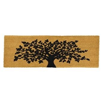 Podłużna wycieraczka z naturalnego kokosowego włókna Artsy Doormats Tree Of Life, 120x40 cm