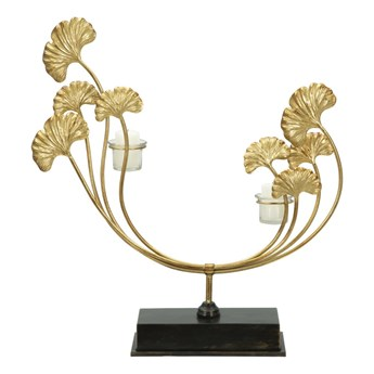 Świecznik w kolorze złota Mauro Ferretti Iris