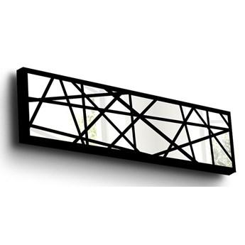 Szklana dekoracja ścienna w drewnianej ramce Vera, 108x28 cm